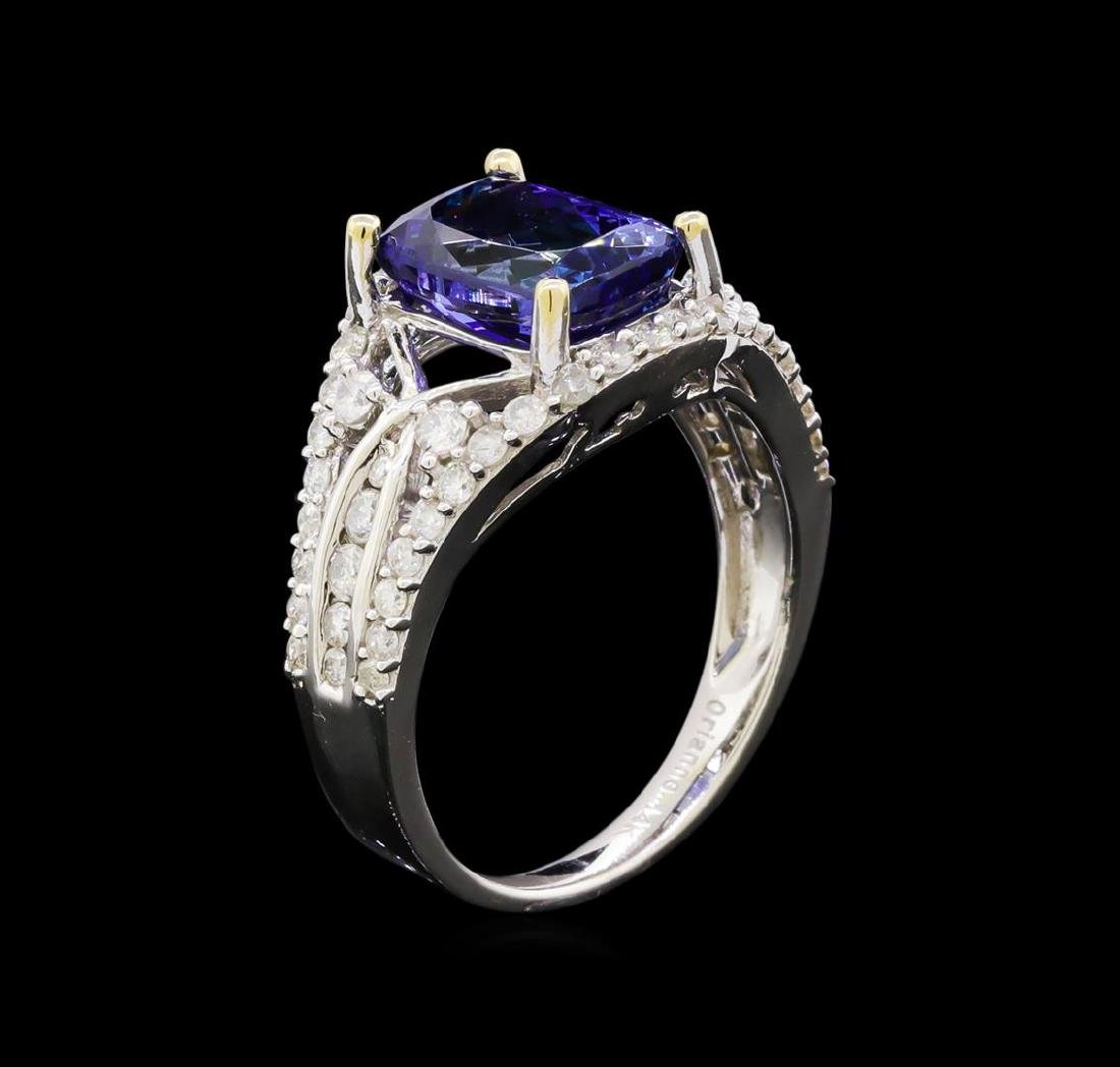 14KT White Gold 2.53 ctw Tanzanite and Diamond Ring - 4
