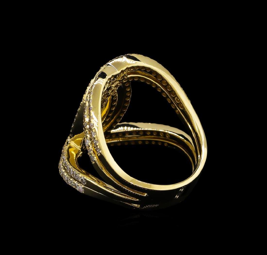 1.27 ctw Diamond Ring - 14KT Yellow Gold - 3