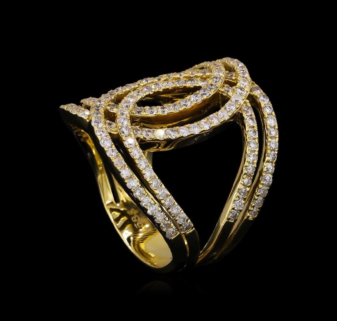 1.27 ctw Diamond Ring - 14KT Yellow Gold - 4