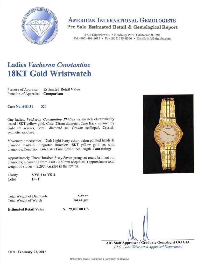 Vacheron Constantine Phidias 18KT Gold 2.29 ctw Diamond - 5