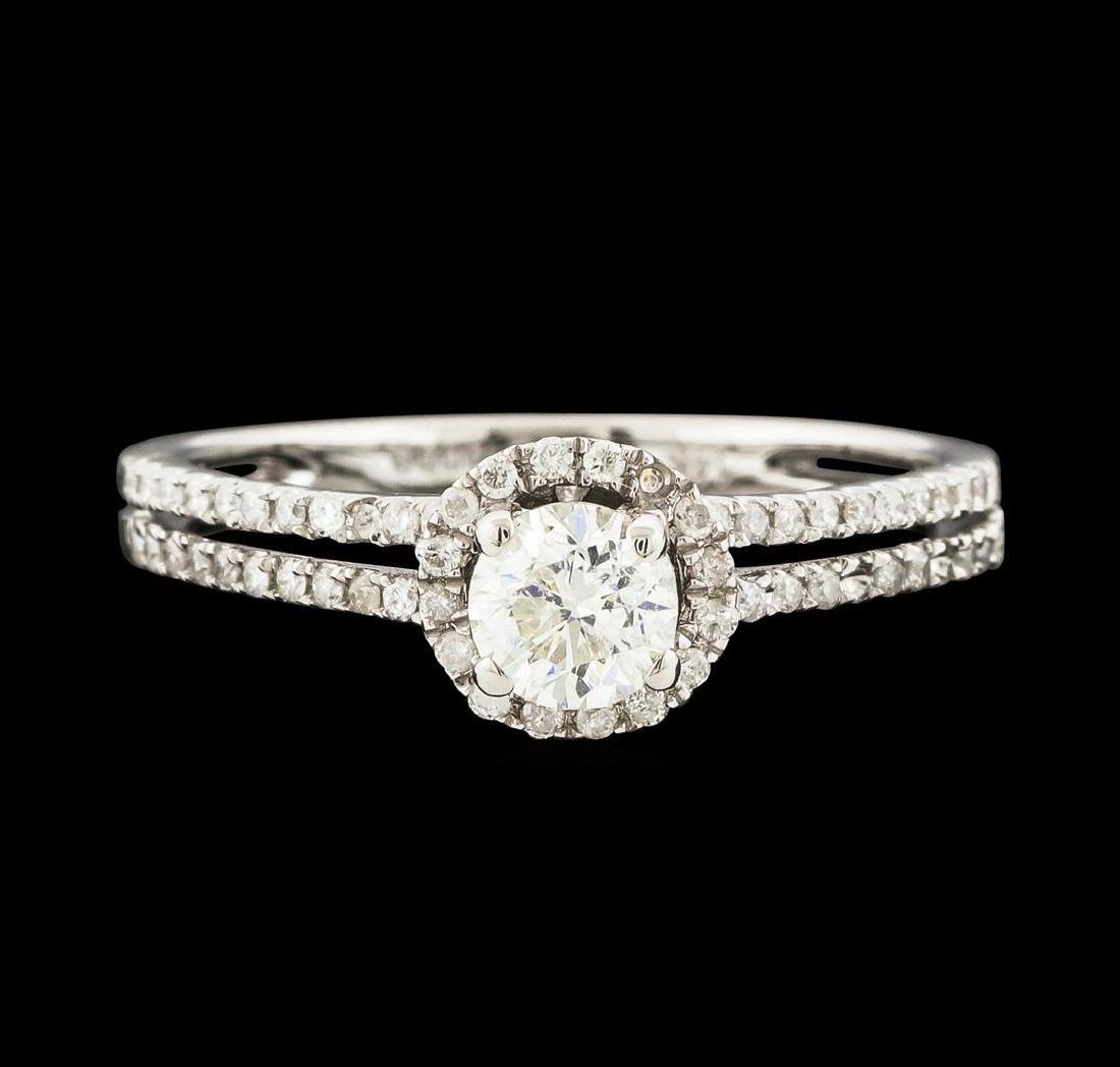 0.80 ctw Diamond Ring - 14KT White Gold - 2
