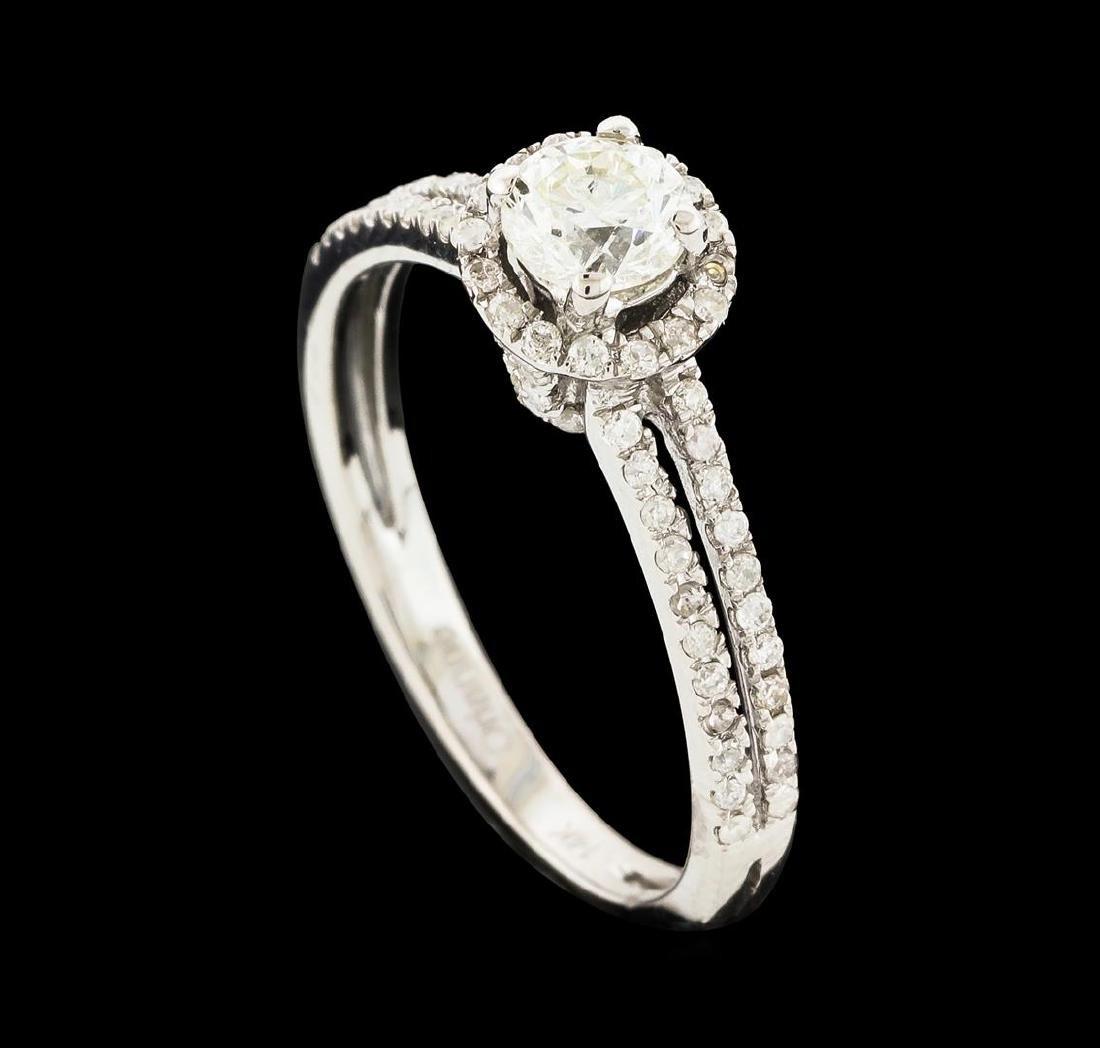 0.80 ctw Diamond Ring - 14KT White Gold - 4