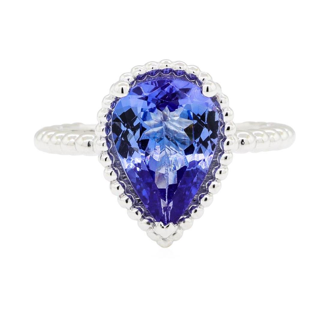 2.54 ctw Tanzanite Ring - 14KT White Gold - 2