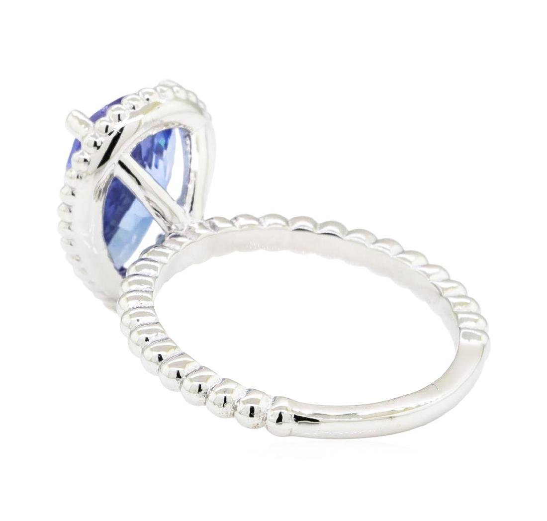 2.54 ctw Tanzanite Ring - 14KT White Gold - 3