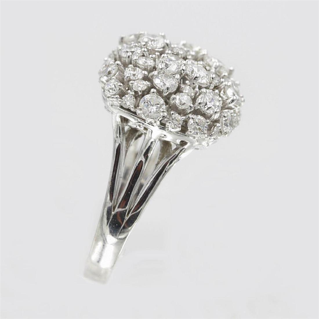 2.33 ctw Diamond Anniversary Ring - 14KT White Gold - 3