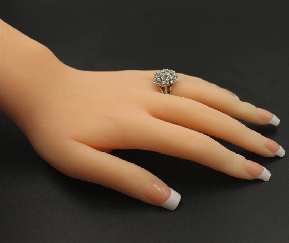 2.33 ctw Diamond Anniversary Ring - 14KT White Gold - 4