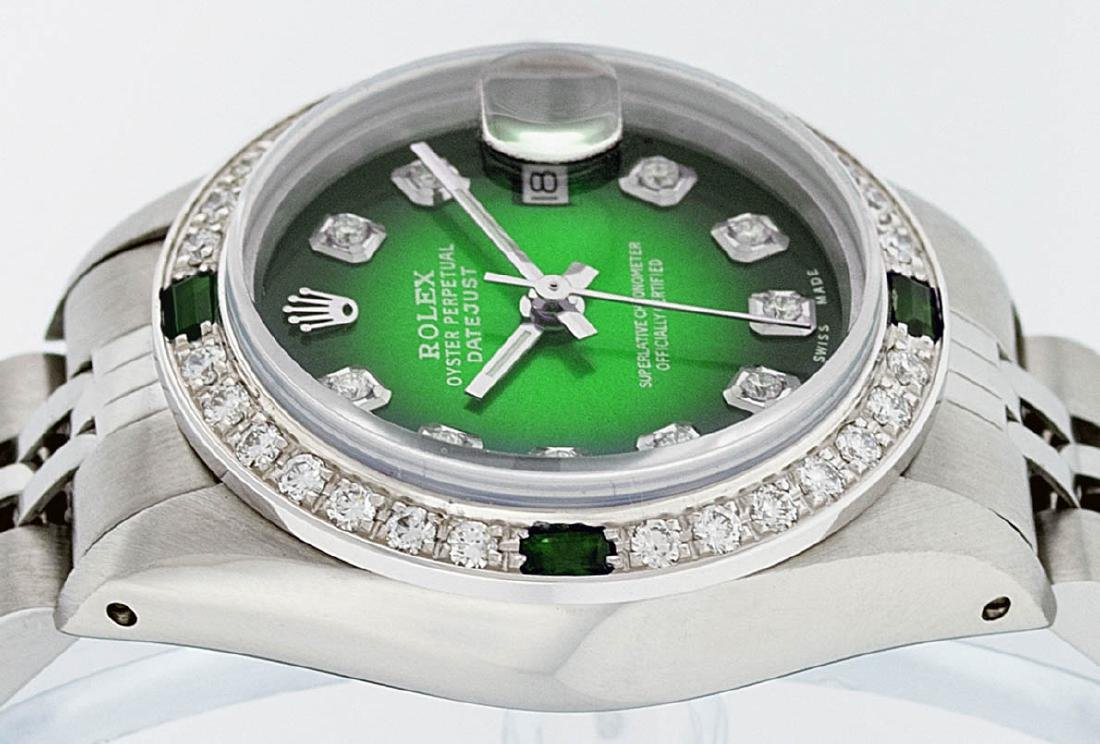 Rolex Ladies Stainless Steel 26MM Green Vignette - 4