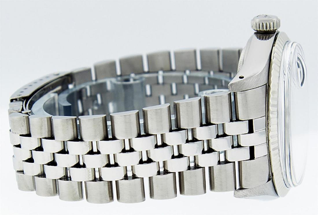 Rolex Mens Stainless Steel Green Diamond 36MM Datejust - 3