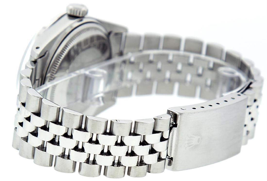 Rolex Mens Stainless Steel Green Diamond 36MM Datejust - 6