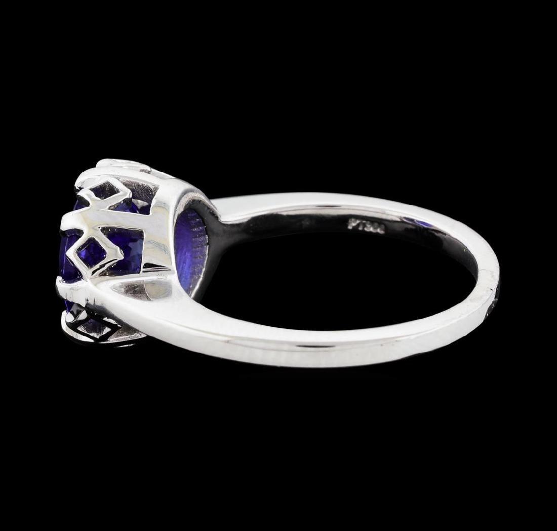 2.30 ctw Tanzanite Ring - Platinum - 3