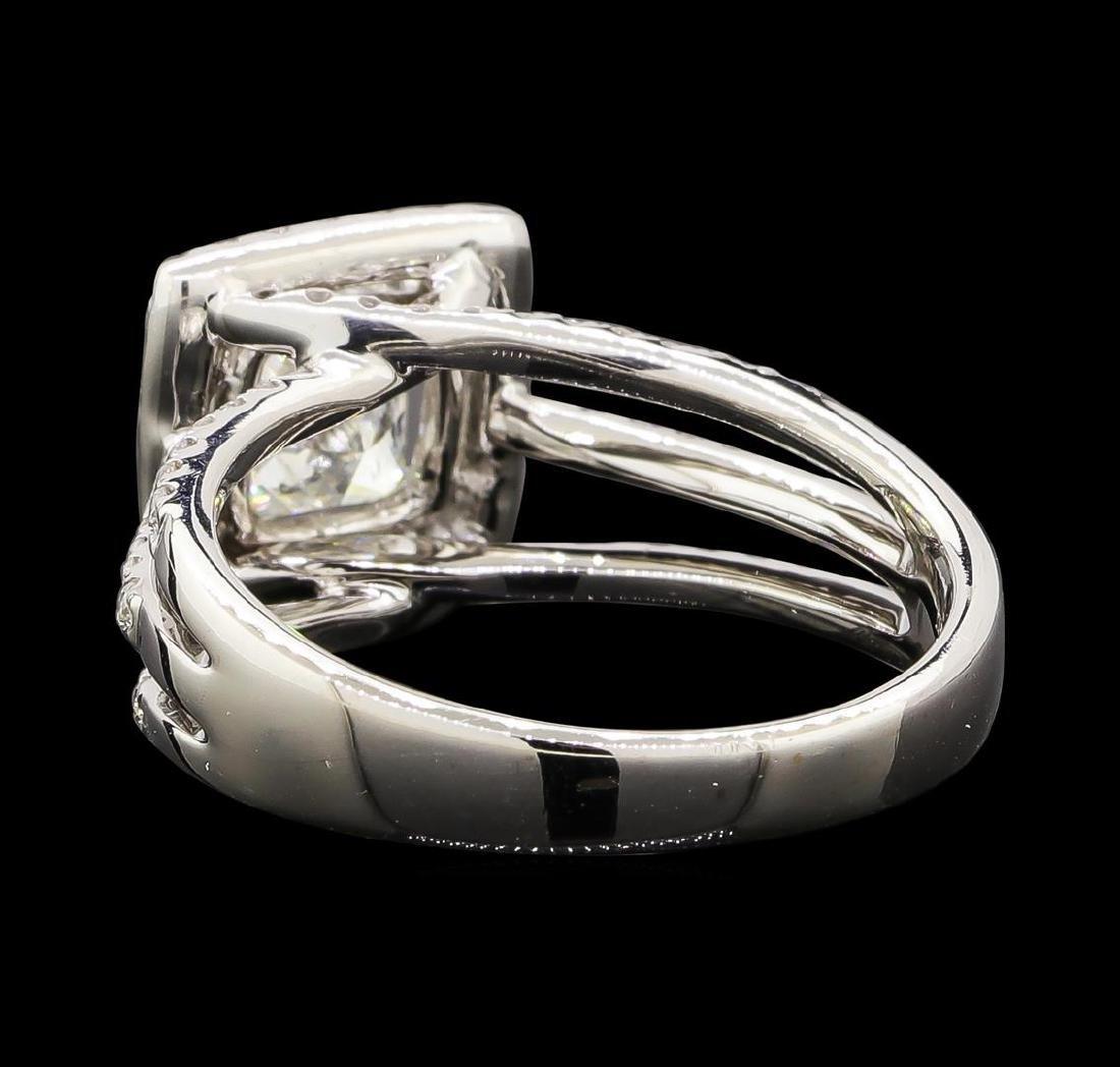 1.65 ctw Diamond Ring - 18KT White Gold - 3