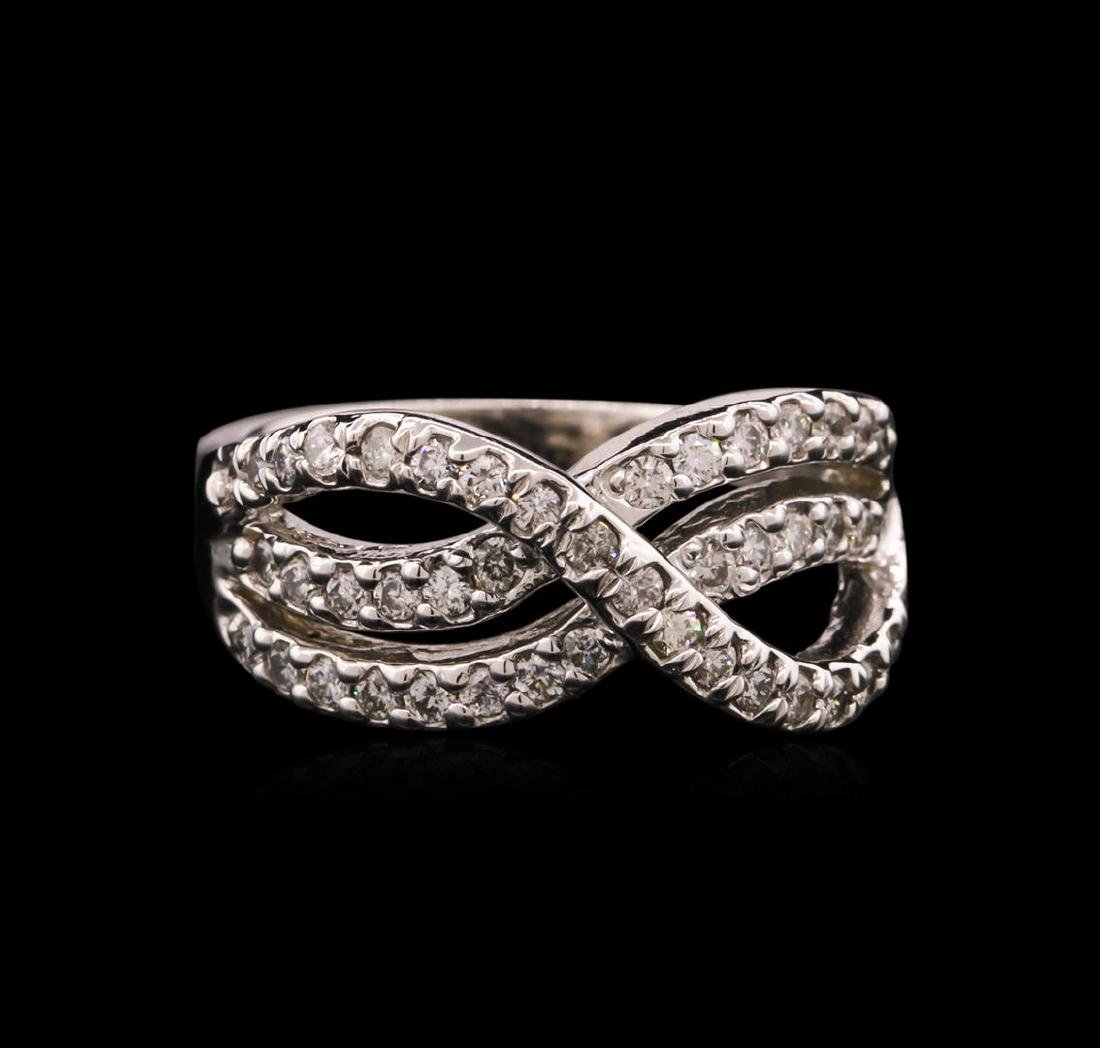 0.50 ctw Diamond Ring - 14KT White Gold - 2