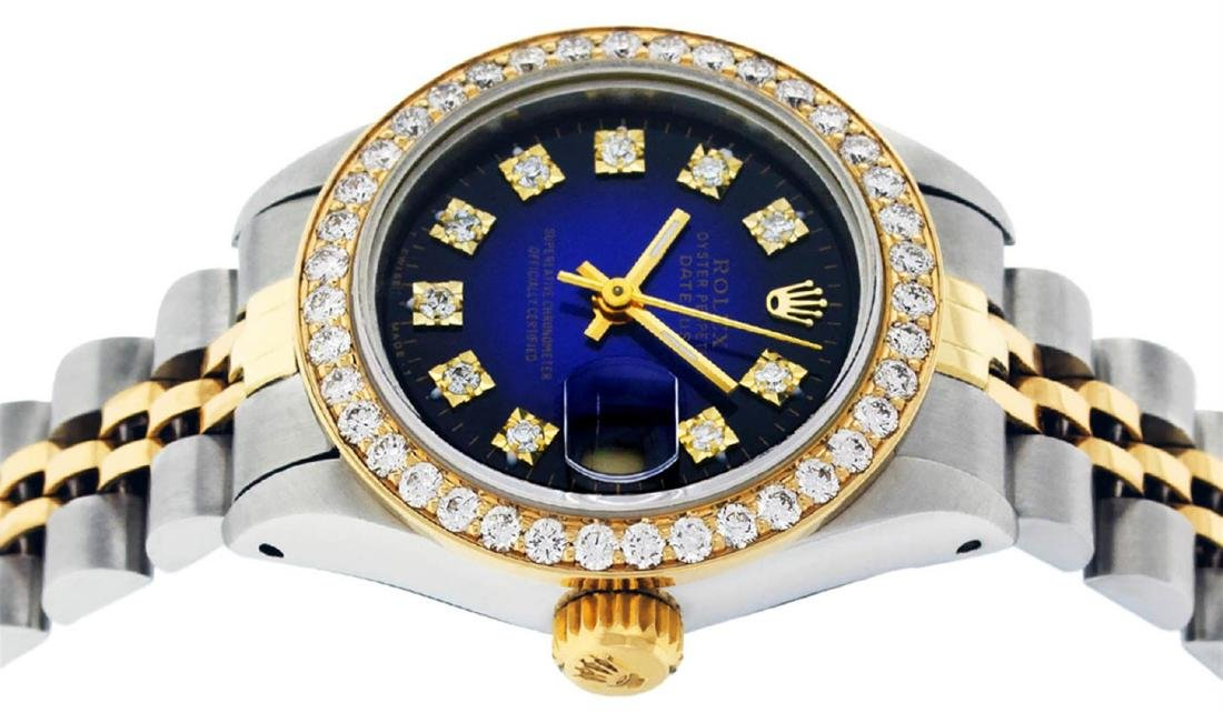 Rolex Ladies 2 Tone 14K Blue Vignette VS Diamond - 3