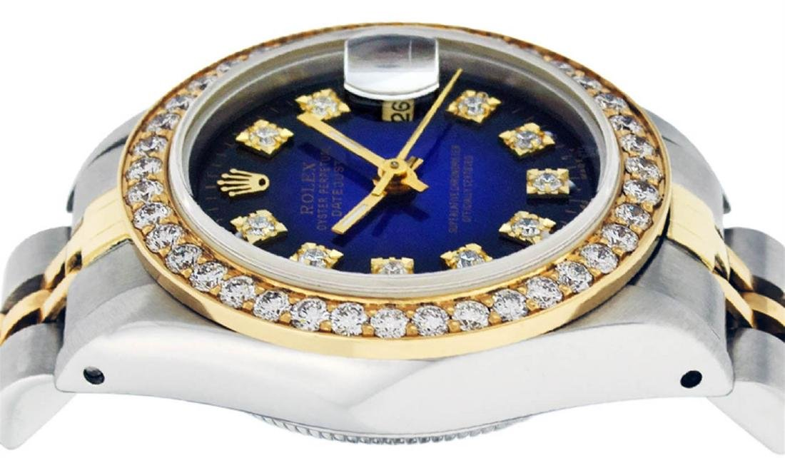 Rolex Ladies 2 Tone 14K Blue Vignette VS Diamond - 4