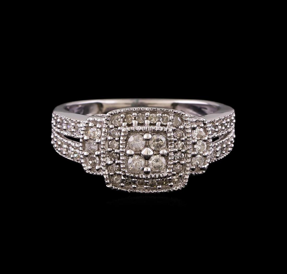 0.55 ctw Diamond Ring - 10KT White Gold - 2