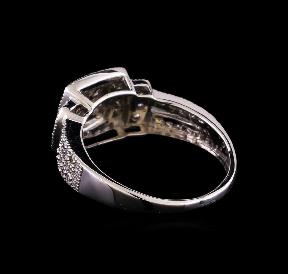 0.55 ctw Diamond Ring - 10KT White Gold - 3