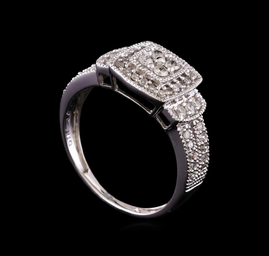 0.55 ctw Diamond Ring - 10KT White Gold - 4
