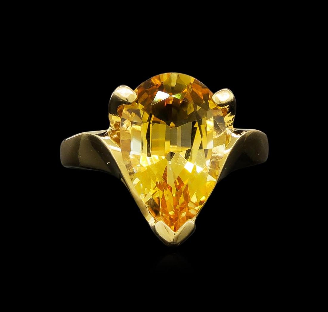 Citrine Ring - 14KT Yellow Gold - 2