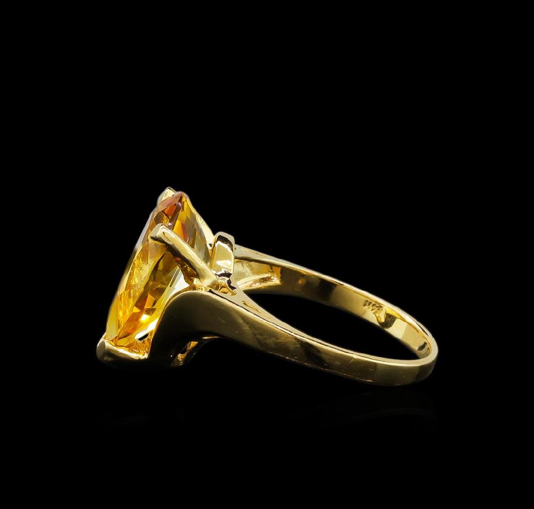 Citrine Ring - 14KT Yellow Gold - 3