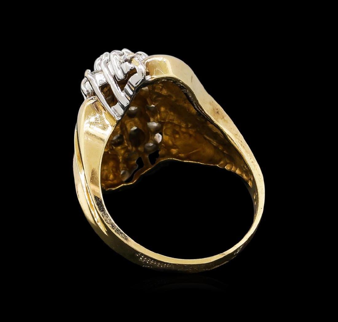 0.95 ctw Diamond Ring - 10KT Yellow Gold - 3