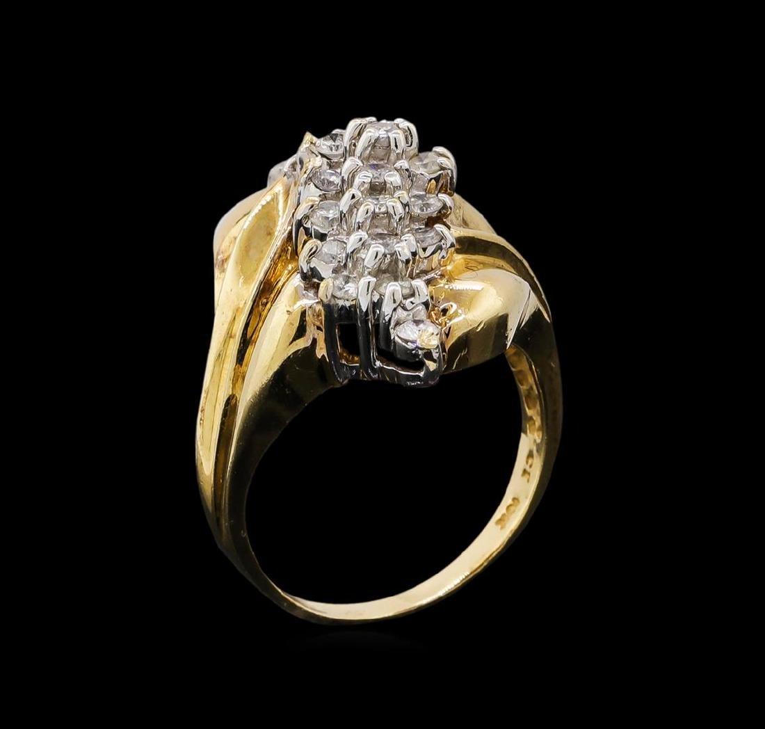 0.95 ctw Diamond Ring - 10KT Yellow Gold - 4