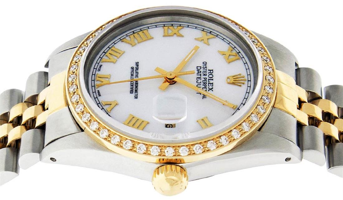 Rolex Mens 2 Tone 14K Mother Of Pearl Diamond 36MM - 7