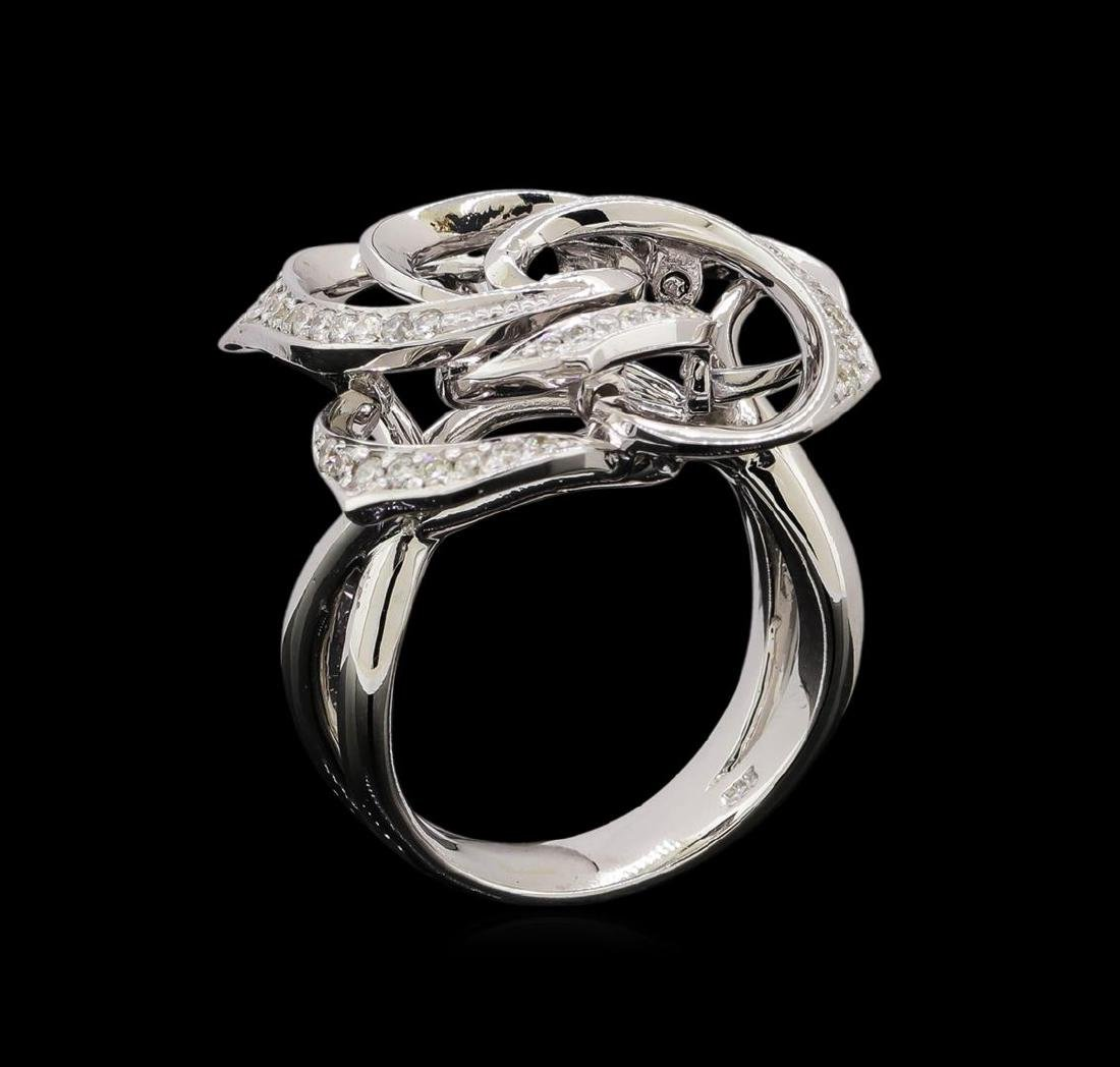 14KT White Gold 0.40 ctw Diamond Ring - 4