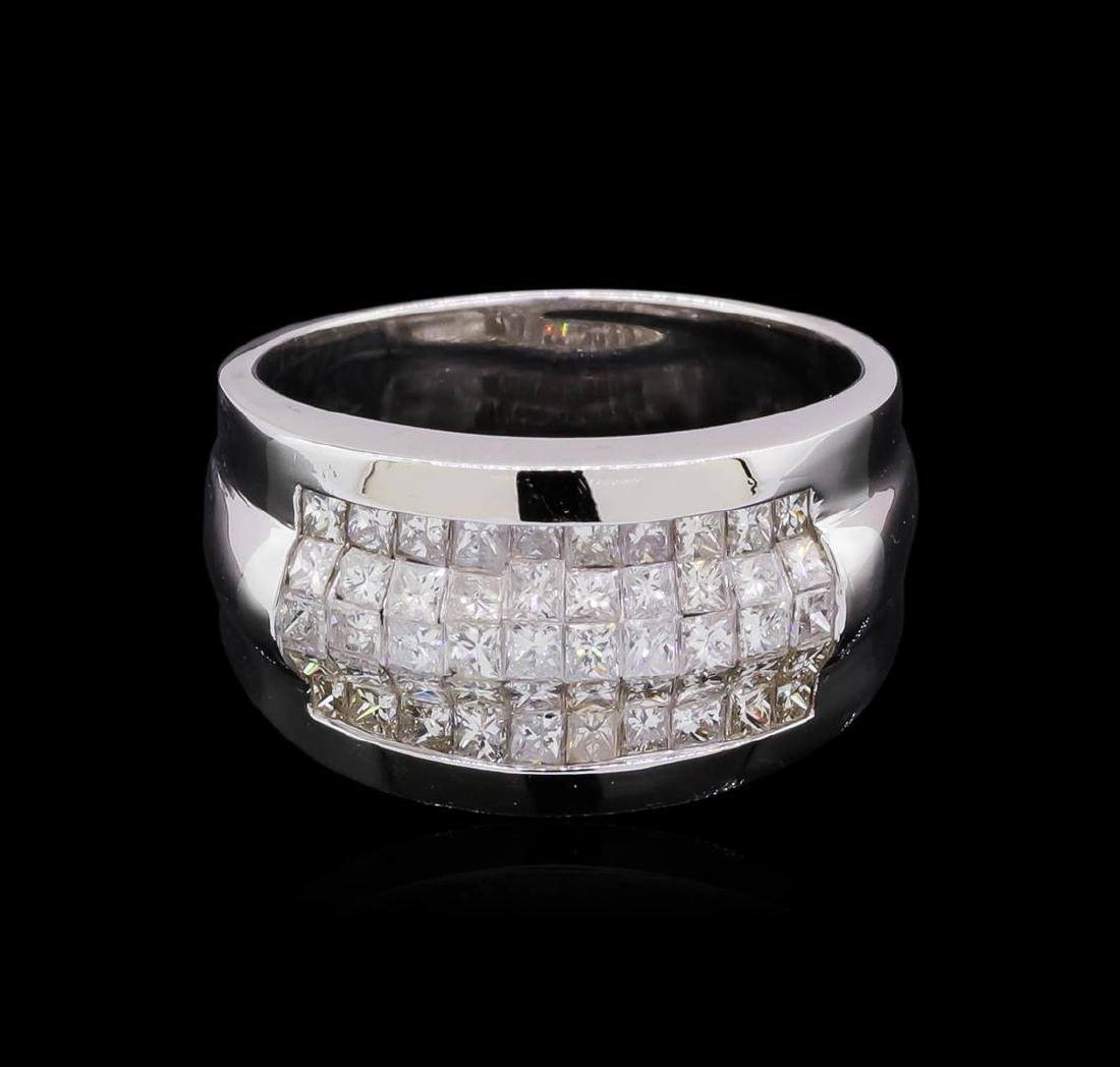 14KT White Gold 1.51 ctw Diamond Ring - 2