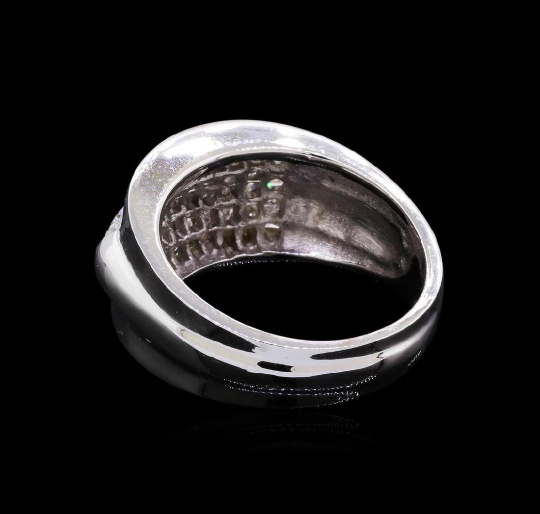14KT White Gold 1.51 ctw Diamond Ring - 3