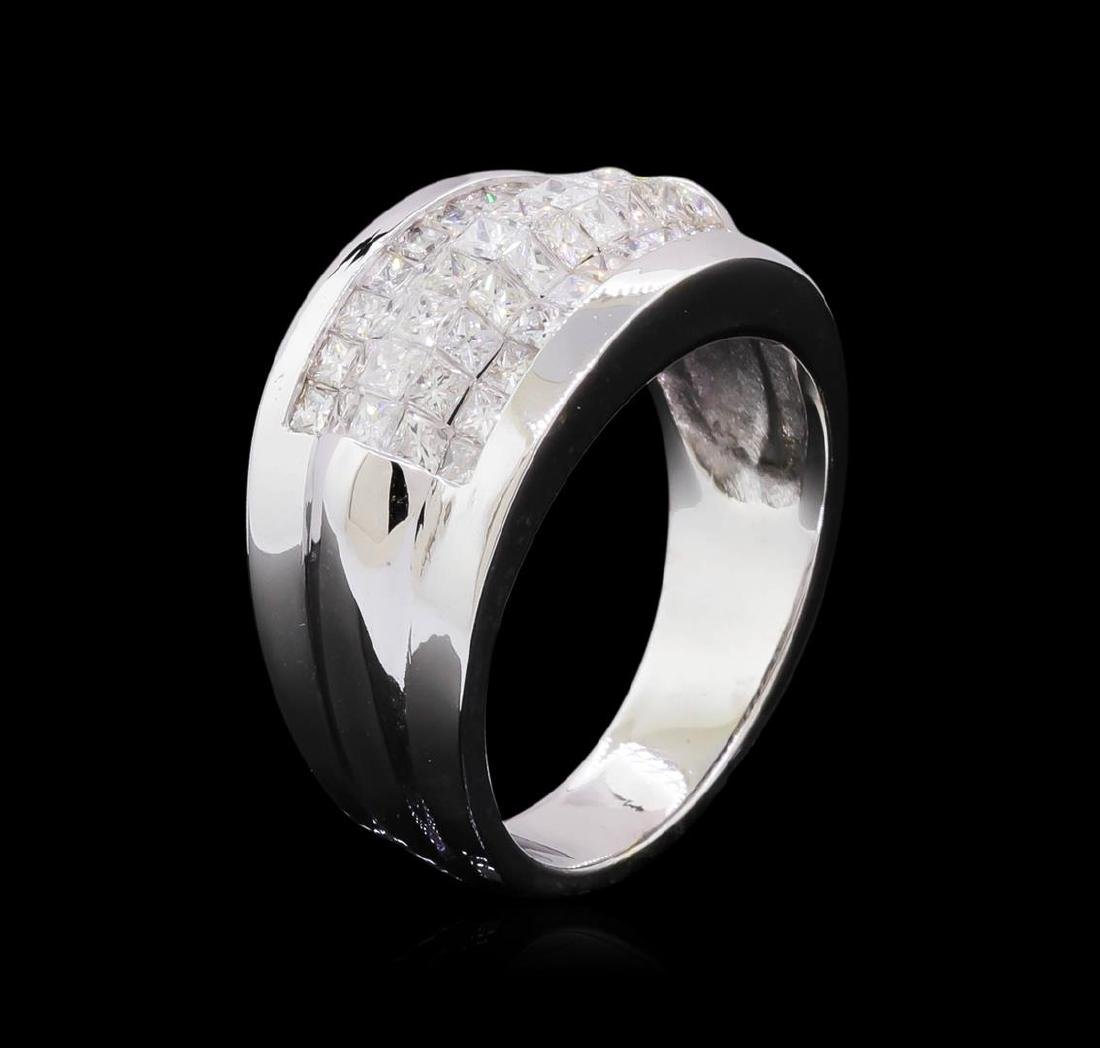 14KT White Gold 1.51 ctw Diamond Ring - 4