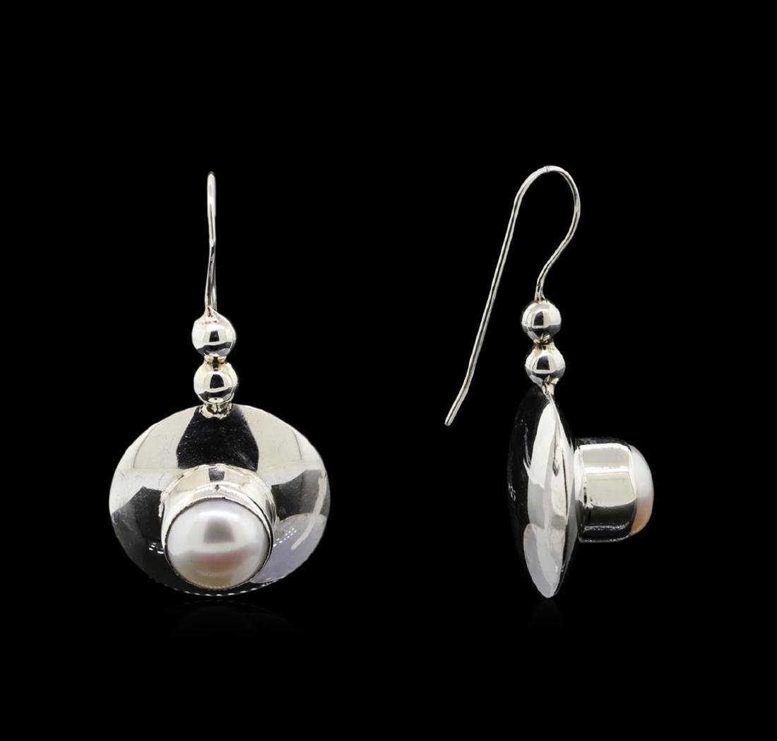 Sterling Silver Earrings and Pendant Jewelry Suite - 2
