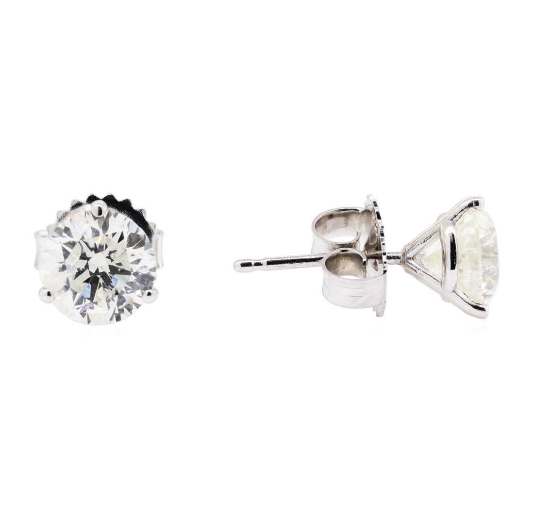 2.11 ctw Diamond Earrings - 14KT White Gold - 2