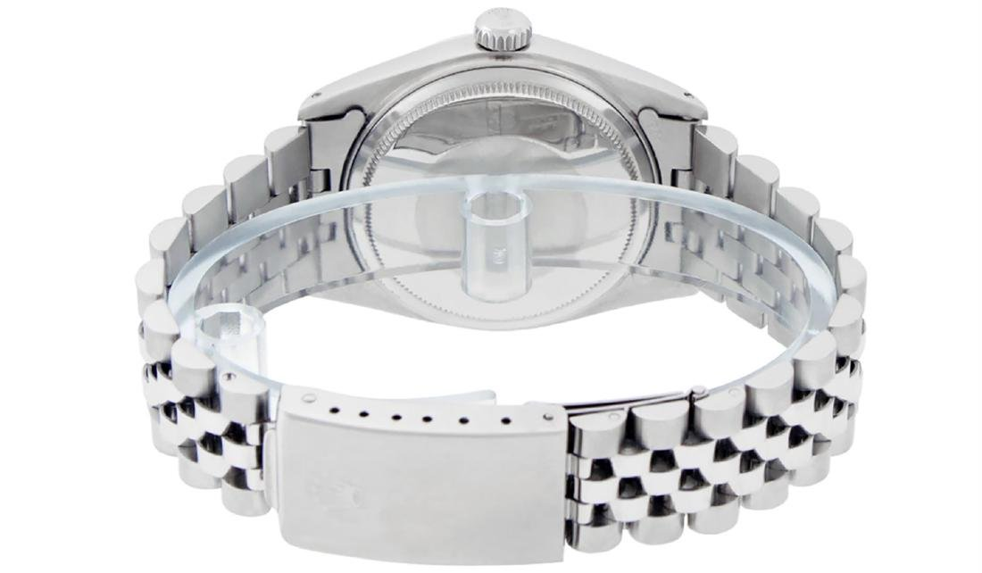 Rolex Mens Stainless Steel Mother Of Pearl Roman - 4