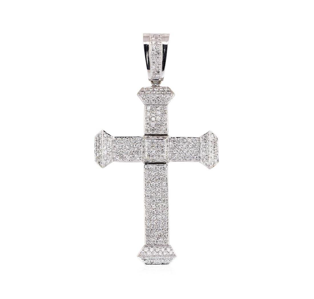 4.25 ctw Diamond Pendant - 18KT White Gold