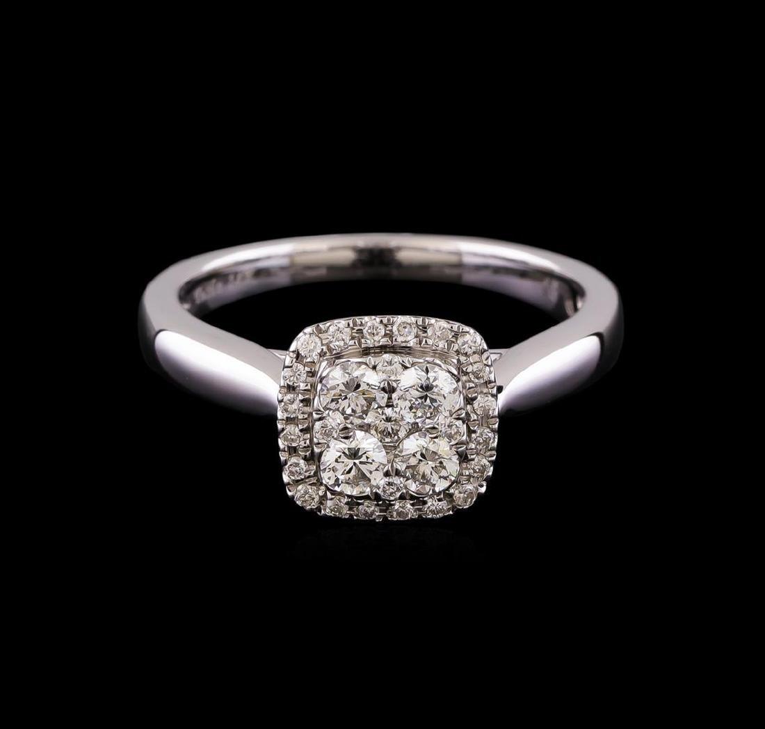 0.53 ctw Diamond Ring - 14KT White Gold - 2