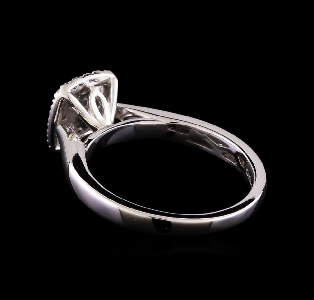 0.53 ctw Diamond Ring - 14KT White Gold - 3