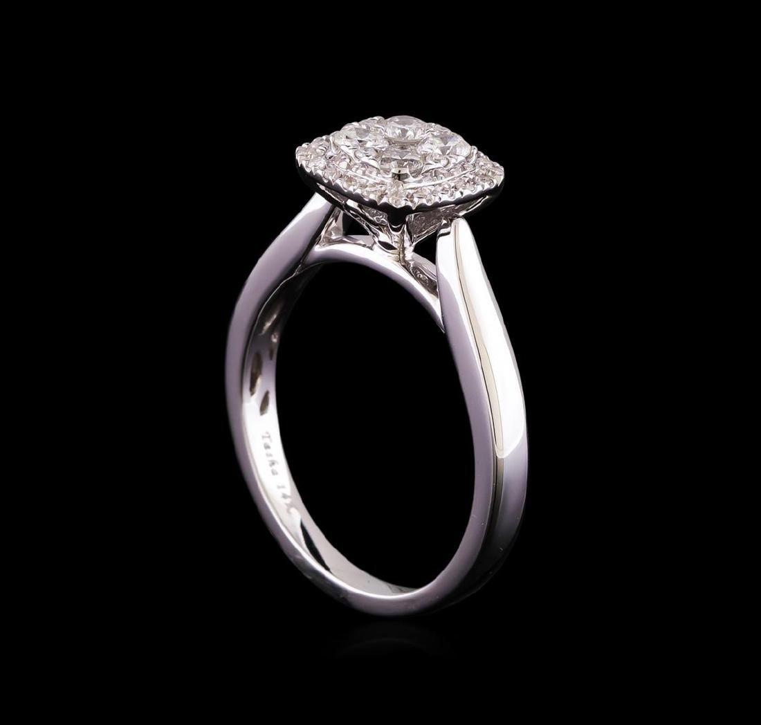0.53 ctw Diamond Ring - 14KT White Gold - 4