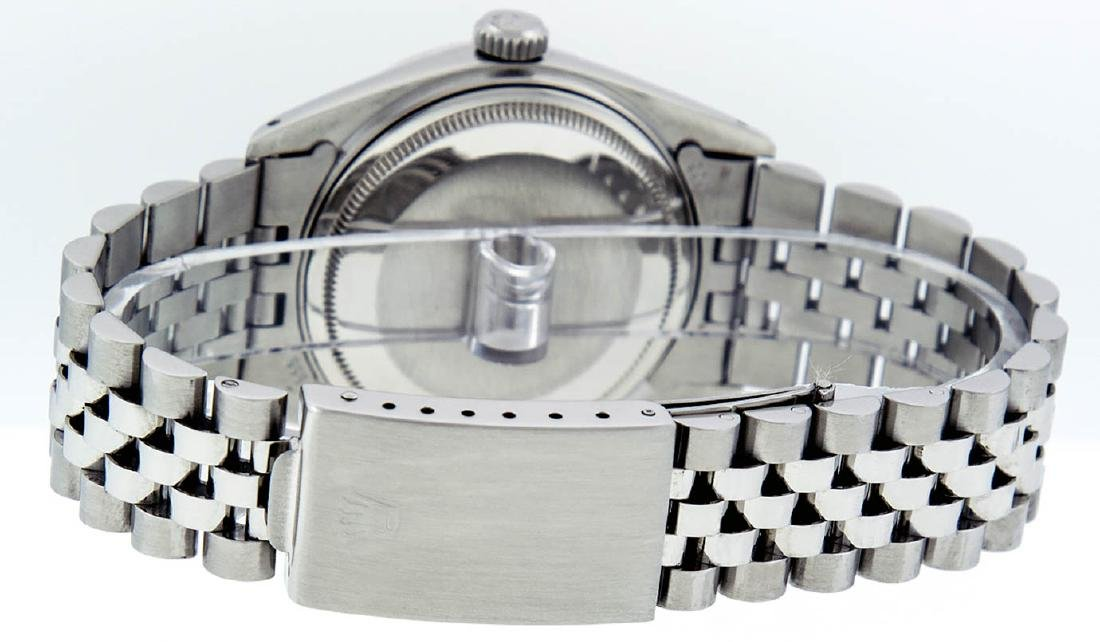 Rolex Mens Stainless Steel Diamond Lugs & Ruby Datejust - 5