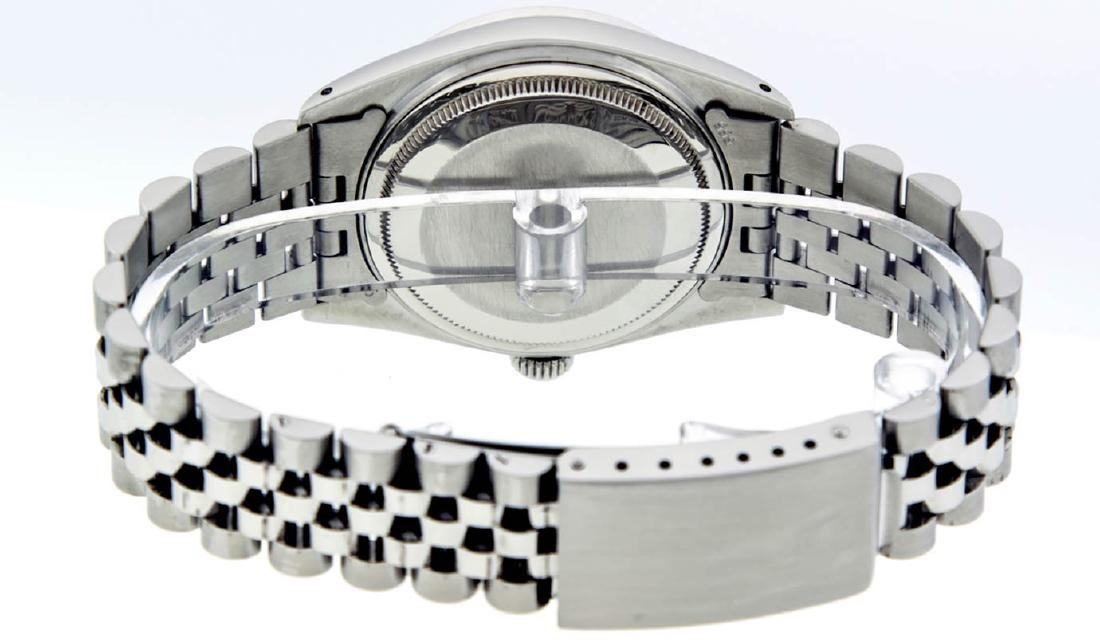 Rolex Mens Stainless Steel Diamond Lugs & Ruby Datejust - 6