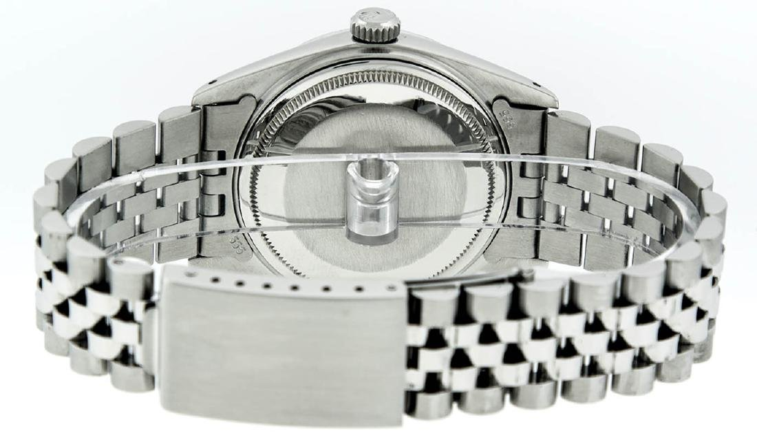 Rolex Mens Stainless Steel Diamond Lugs & Ruby Datejust - 8