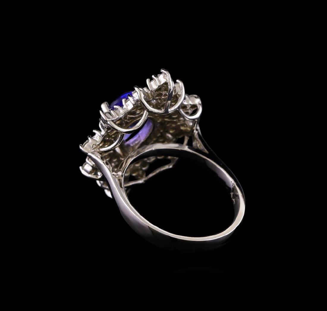 14KT White Gold 2.45 ctw Tanzanite and Diamond Ring - 3