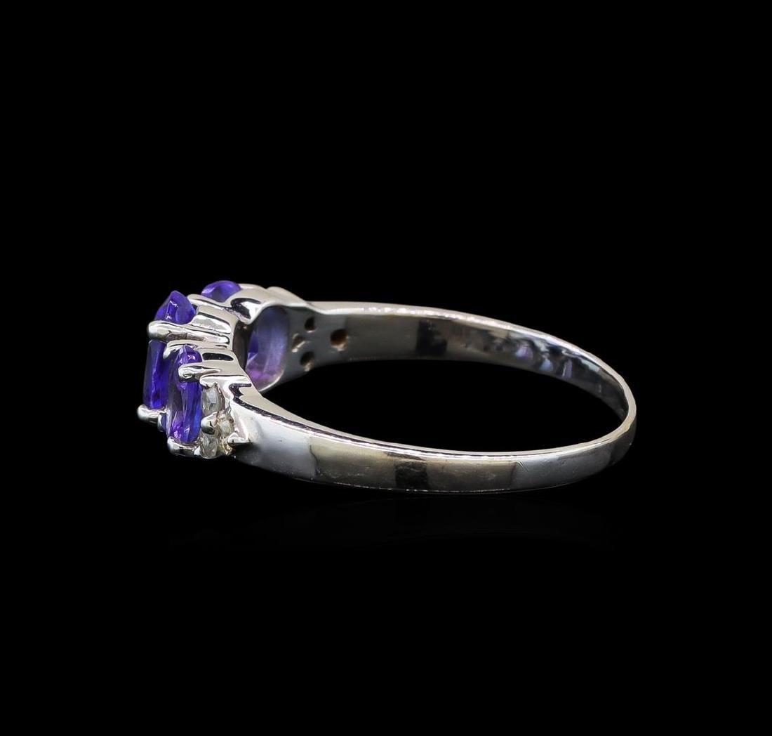 14KT White Gold 1.33 ctw Tanzanite and Diamond Ring - 3