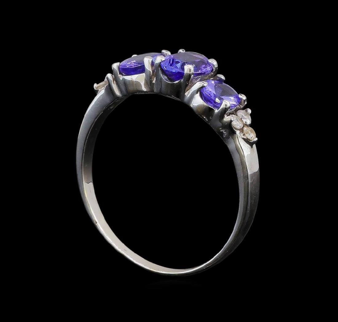 14KT White Gold 1.33 ctw Tanzanite and Diamond Ring - 4