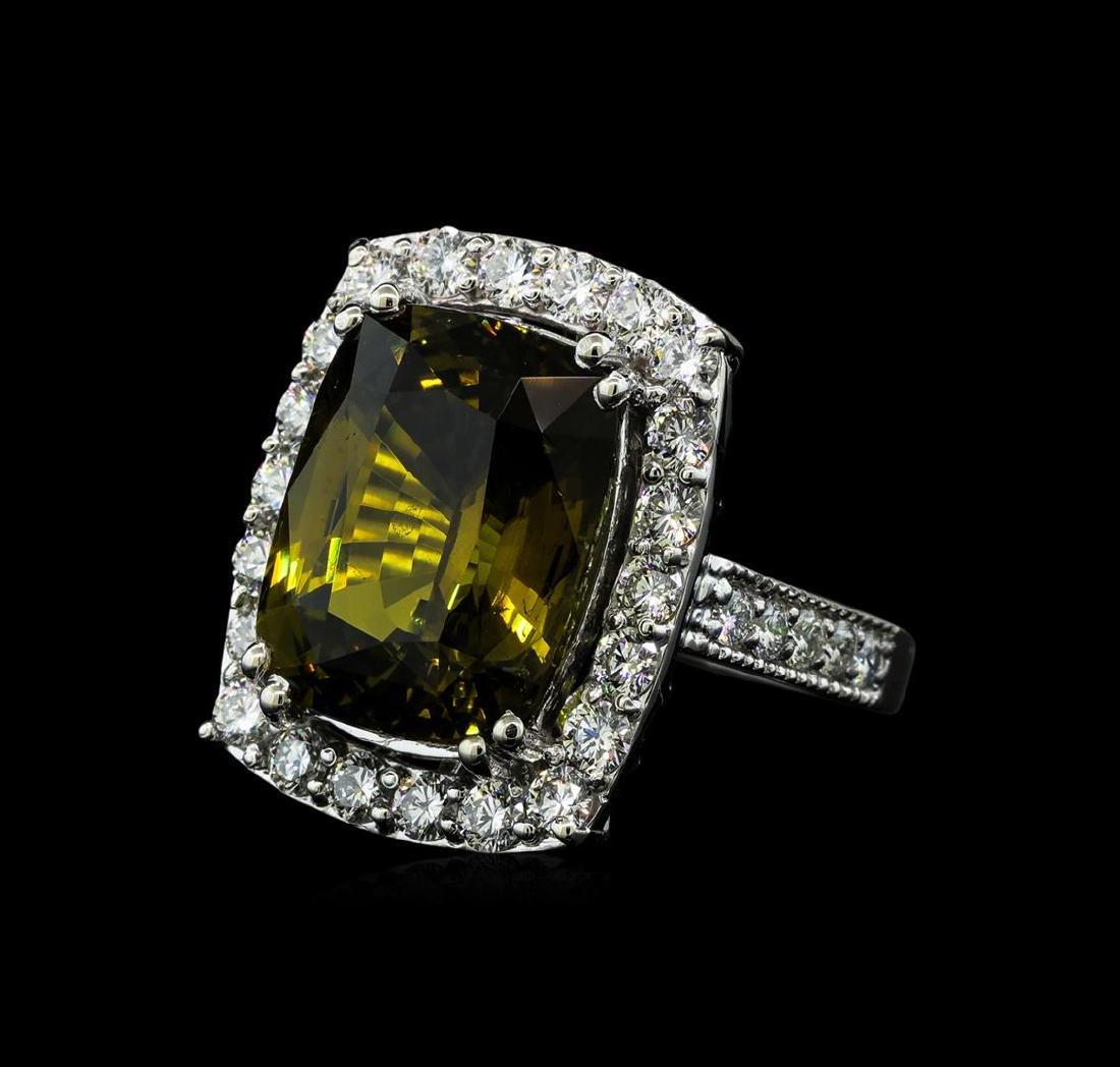 12.73 ctw Alexandrite and Diamond Ring - 14KT White