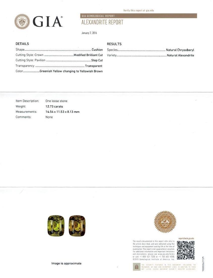 12.73 ctw Alexandrite and Diamond Ring - 14KT White - 6