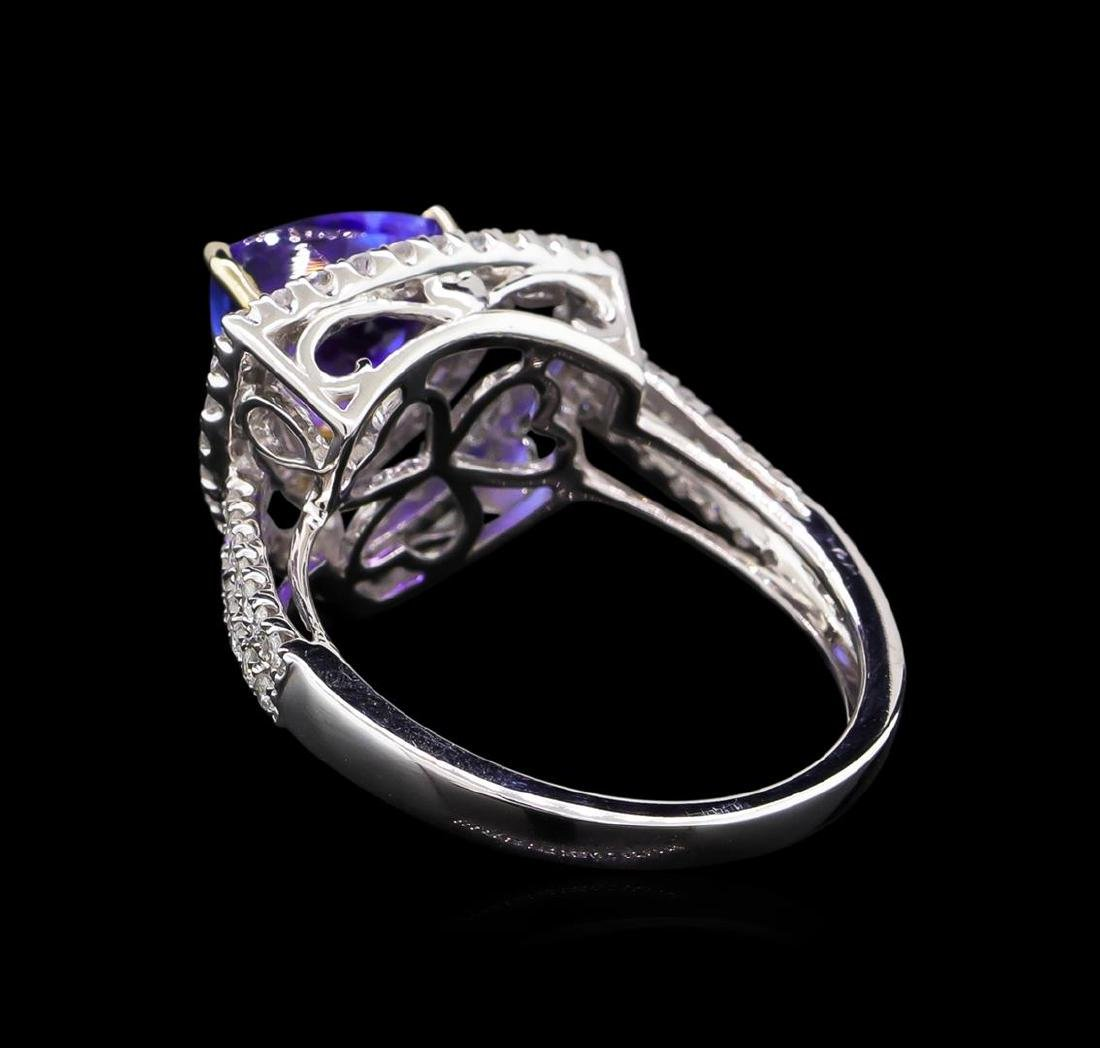 14KT Two-Tone Gold 2.25 ctw Tanzanite and Diamond Ring - 3