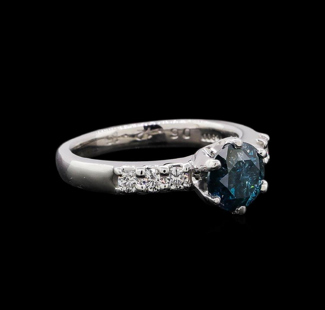 1.35 ctw Blue Diamond Ring - Platinum