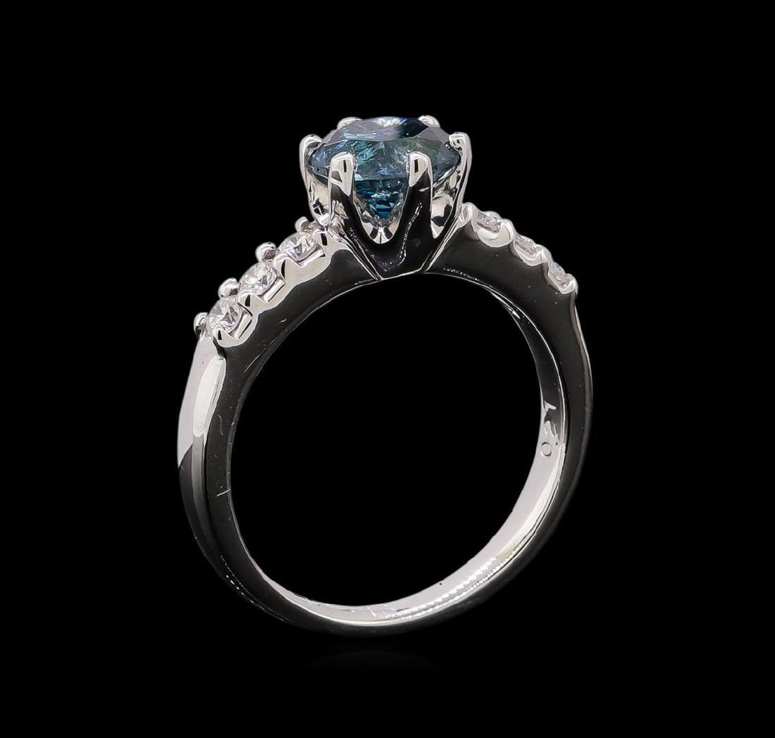 1.35 ctw Blue Diamond Ring - Platinum - 4