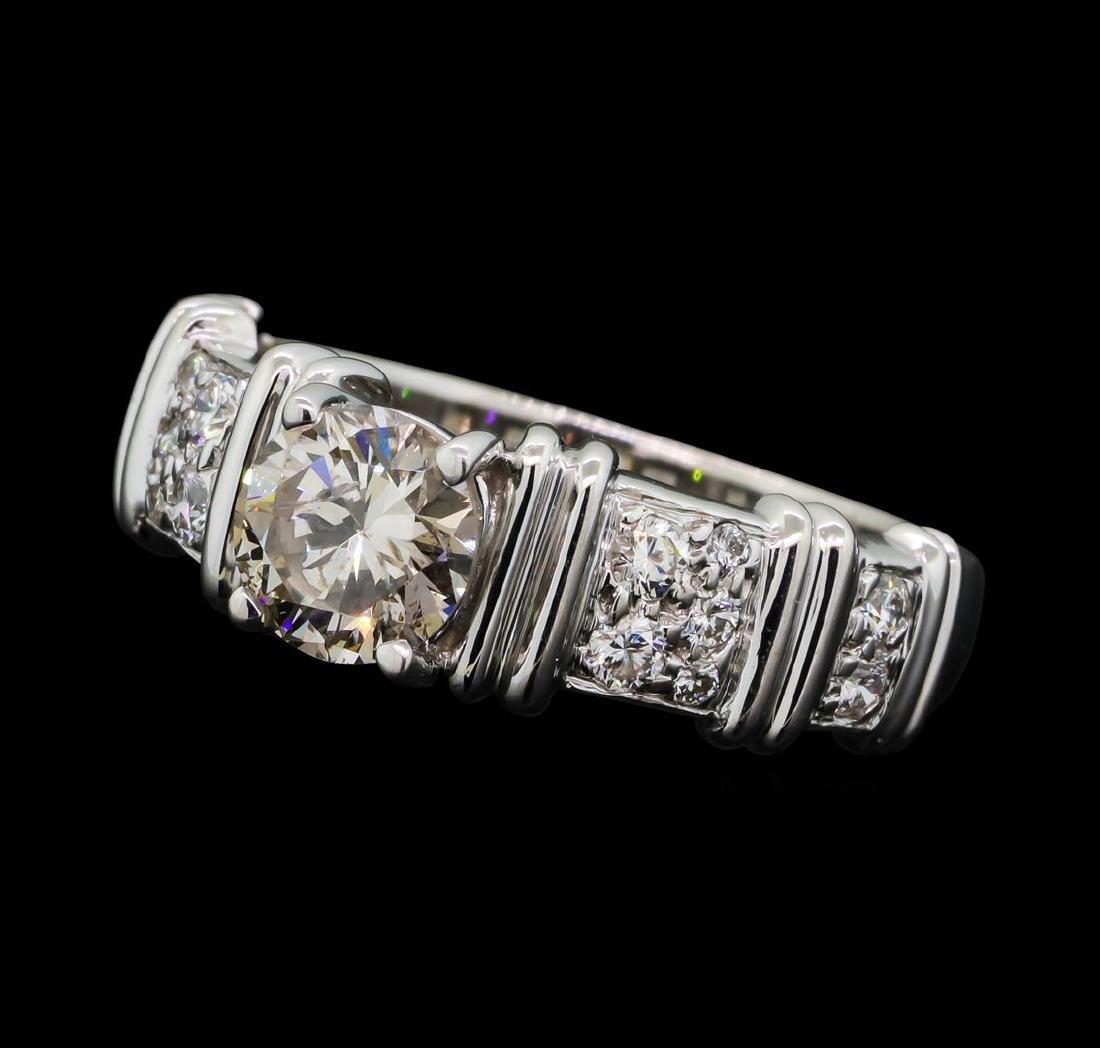 1.02 ctw Diamond Ring - 18KT Yellow With Rhodium