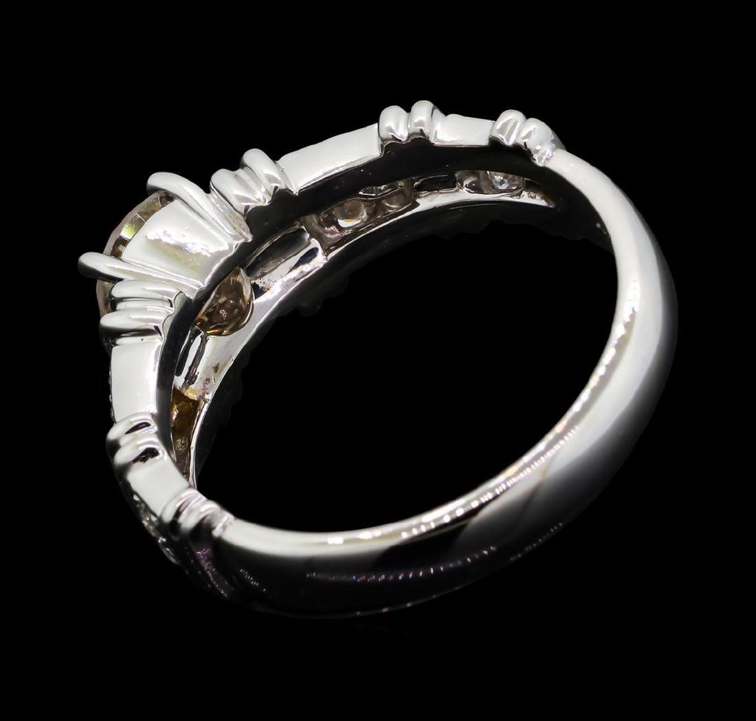 1.02 ctw Diamond Ring - 18KT Yellow With Rhodium - 3